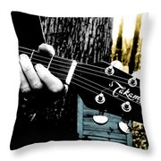 Sunset Country Pickin Throw Pillow