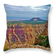 Sunset Crater View From Desert View On East Side Of South Rim Grand Canyon National Park-arizona  Throw Pillow