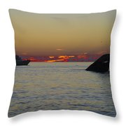 Sunset Cruise At Cape May Throw Pillow