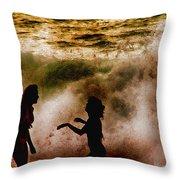 Sunset Dance Throw Pillow