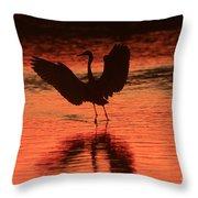 Sunset Dancer Throw Pillow