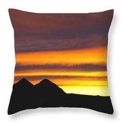Sunset Death Valley Rectangular Img 0283 Throw Pillow