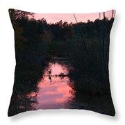Sunset Deer Throw Pillow