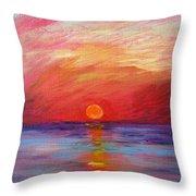 Sunset Delaware Bay Throw Pillow