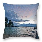 Sunset Drama At Tahoe Throw Pillow