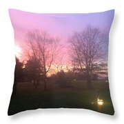 Sunset Elegant Fall Tree Show Skyview Resort Weekend Getaway To Poconos Pa America Usa Landscape Nav Throw Pillow