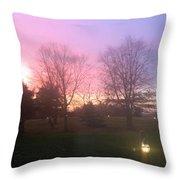 Sunset Elegant Fall Tree Show Skyview Resort Weekend Getaway To Poconos Pa America Usa Landscape Nav Throw Pillow
