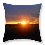 Sunset Eye Throw Pillow
