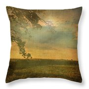 Sunset Farmland Throw Pillow