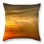 Sunset Feather Clouds Throw Pillow