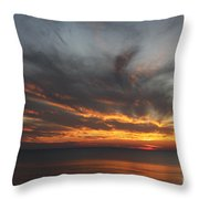 Sunset Fiery Sky Throw Pillow