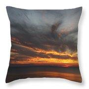 Sunset Fiery Sky Throw Pillow