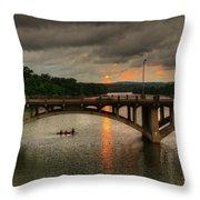 Sunset Fighting Through Throw Pillow