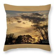 Sunset Fire Throw Pillow