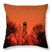 Sunset Fire Tower In Oconee County Throw Pillow