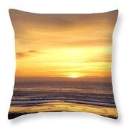 Sunset Flame Throw Pillow