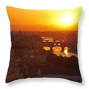 Sunset Florence Throw Pillow