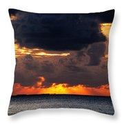 Sunset Florida Keys Throw Pillow