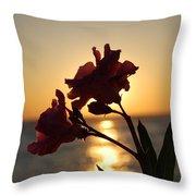 Sunset Flower 2 Throw Pillow