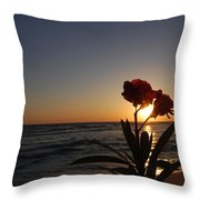 Sunset Flower 3 Throw Pillow