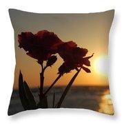 Sunset Flowers Throw Pillow