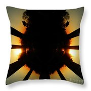 Sunset Folly Throw Pillow