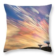 Sunset From Another Planet  Throw Pillow