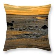 Sunset From Damon Point Throw Pillow