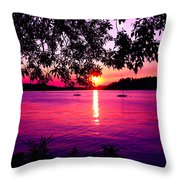 Sunset From Point Fosdick Gig Harbor Washington Throw Pillow