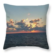 Sunset From The Carnival Triumph Throw Pillow