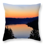 Sunset From The Deck Throw Pillow