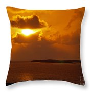 Sunset From The Dolphin Watch Cottage Throw Pillow