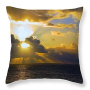 Sunset From The Mumbles Throw Pillow