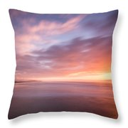 Sunset From The South Jetty Throw Pillow