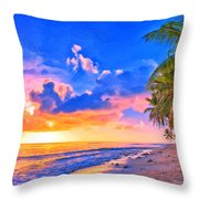 Sunset Glow On The Kona Coast Throw Pillow