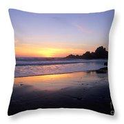 Sunset Gold Big Sur Throw Pillow
