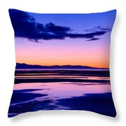 Sunset Great Salt Lake - Utah Throw Pillow