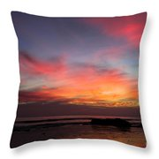 Sunset Handry's Beach Throw Pillow