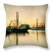 Sunset Harbor Glow Throw Pillow