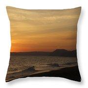 Sunset Hive Beach Summer 2010 Two Throw Pillow