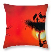 Sunset Home Throw Pillow