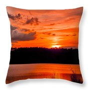 Sunset Huntington Beach State Park Throw Pillow