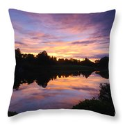 Sunset II At Japanese Garden Throw Pillow