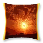 Sunset In A Cup Throw Pillow