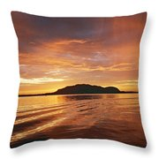 Sunset In Alesund Throw Pillow by Christine Rivers