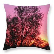 Sunset In April- Silute Lithuania Throw Pillow