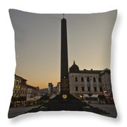 Sunset In B.bystrica Throw Pillow