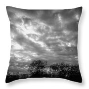 Sunset In Black And White Throw Pillow