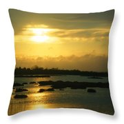 Sunset In Camargue - France Throw Pillow