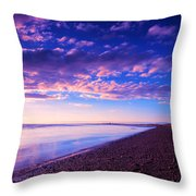 Sunset In Cape Cod Boston Massachusetts  Throw Pillow